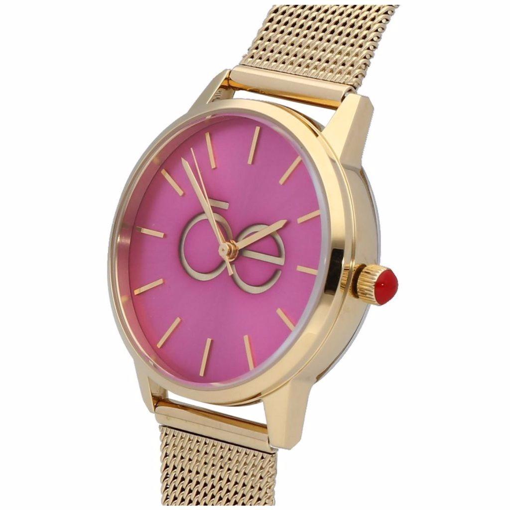 Para Cloe Dama Dial Acero Glp Dorado Reloj Oe1704 Rosa E29eWIYbDH