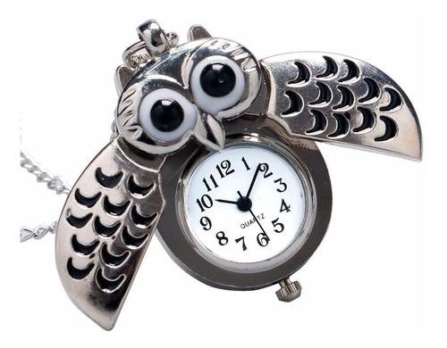 reloj colgante con forma de búho marca bowake con cadena
