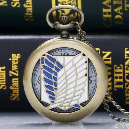 reloj collar coleccionable de attack on titan shingeki anime