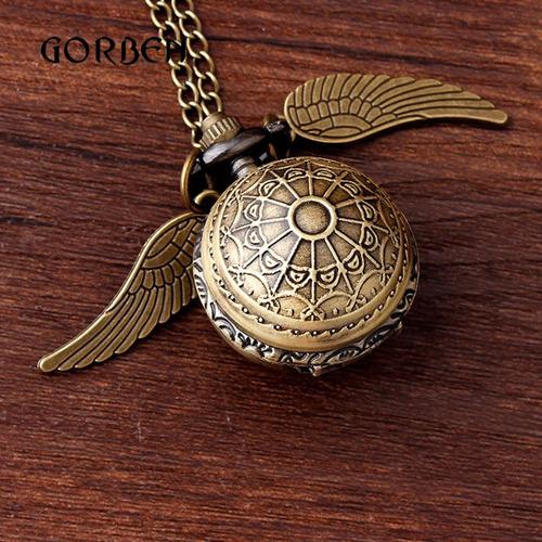 reloj collar de snitch con relieve harry potter de colección