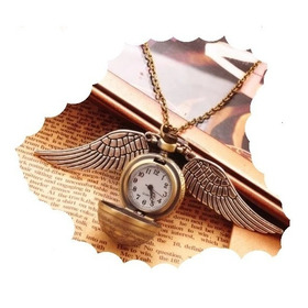 Reloj Collar Harry Potter Snitch Quidditch Vintage Bolsillo