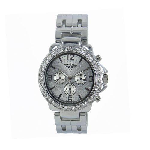 reloj con cristales, ocean heart d12-13-80