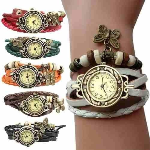 reloj con dijes colores y dijes de moda mujer moderno
