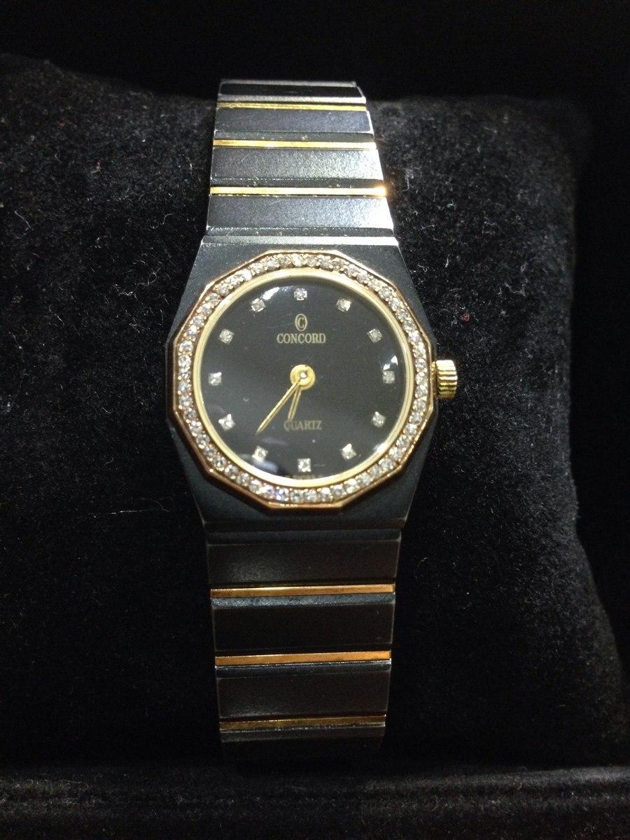 5c1f191d7159 reloj concord mariner sg con bezel de diamantes de acero oro. Cargando zoom.