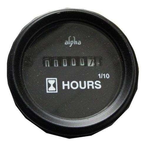 reloj  contador de horas horimetro 52mm