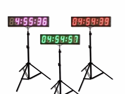 reloj contador digital carreras deportes uso con smartphone