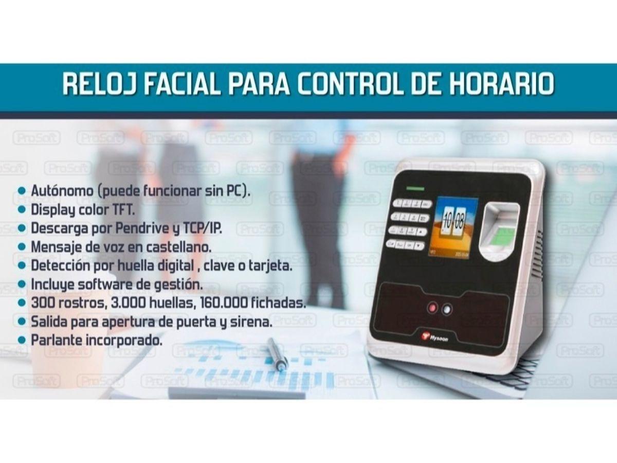 Reloj Horarios Huella Control Prosoft Asistencia Facial kuXiOPZT