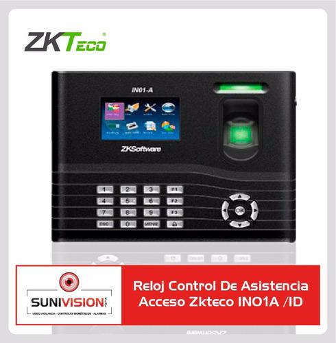 reloj control de asistencia acceso zkteco in01a /id