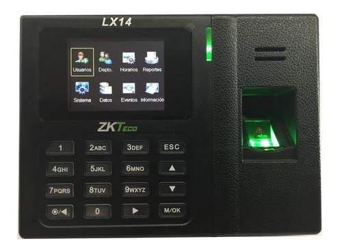 reloj control de asistencia biométrico huella digital lx14