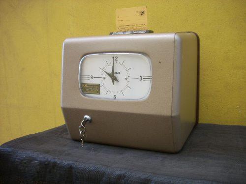 reloj control de personal electromecanico