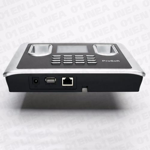 reloj control personal doble biometrico huella c22a prosoft
