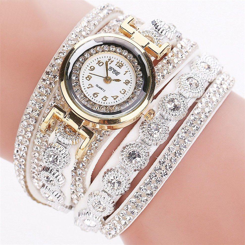 Reloj Con Anillo Coreano Terciopelo Mujeres Diamante Correa bf76yYg