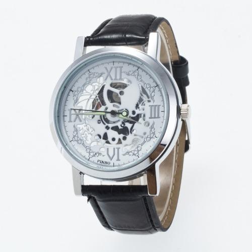 Reloj Correa 3 Perf Cuatro Numero Romano Dial Color Negro 39530