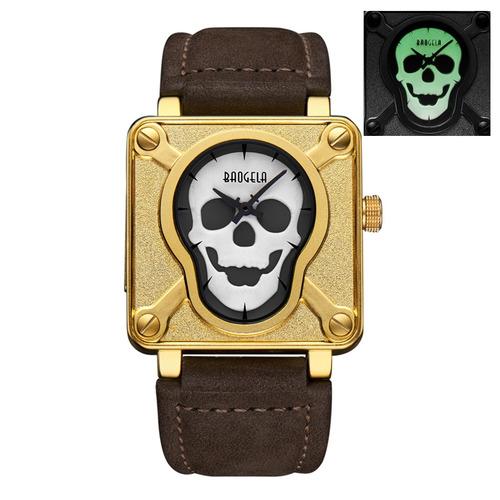 reloj correa baogela 4300 pantalla luminosa dorado