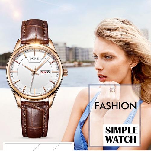 reloj correa burei 7008 concise style ventana