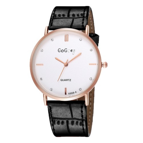 reloj correa gogoey rhinestone redondo dial dama diseño