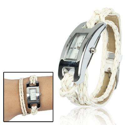 reloj correa inoxidable pulsera cuarzo elegante negro negro