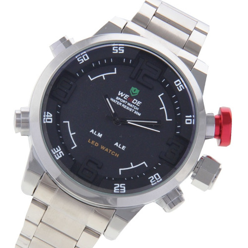 reloj correa weide wh2309 led tiempo exhibicion fecha