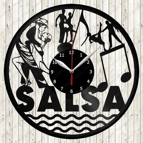 reloj corte laser 2763 baile 3 parejas bailando salsa