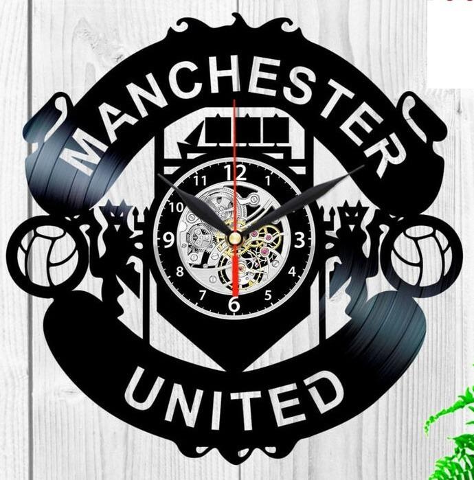 Reloj Corte Laser 3133 Manchester United Escudo Logo