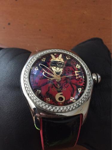 reloj corum bubble  edición  de lucifer con diamantes