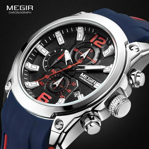 reloj cronografo megir deportivo hombre