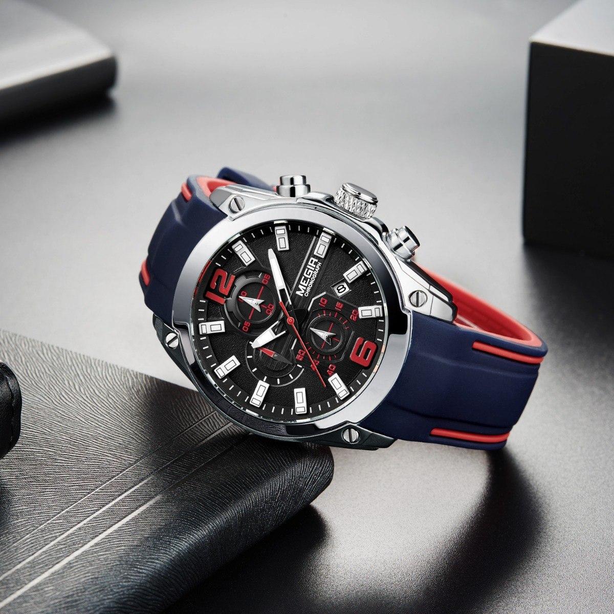 0a3ea153ef28 Reloj Cronógrafo Original Megir 2018 Deportivo Análogo -   890.00 en ...