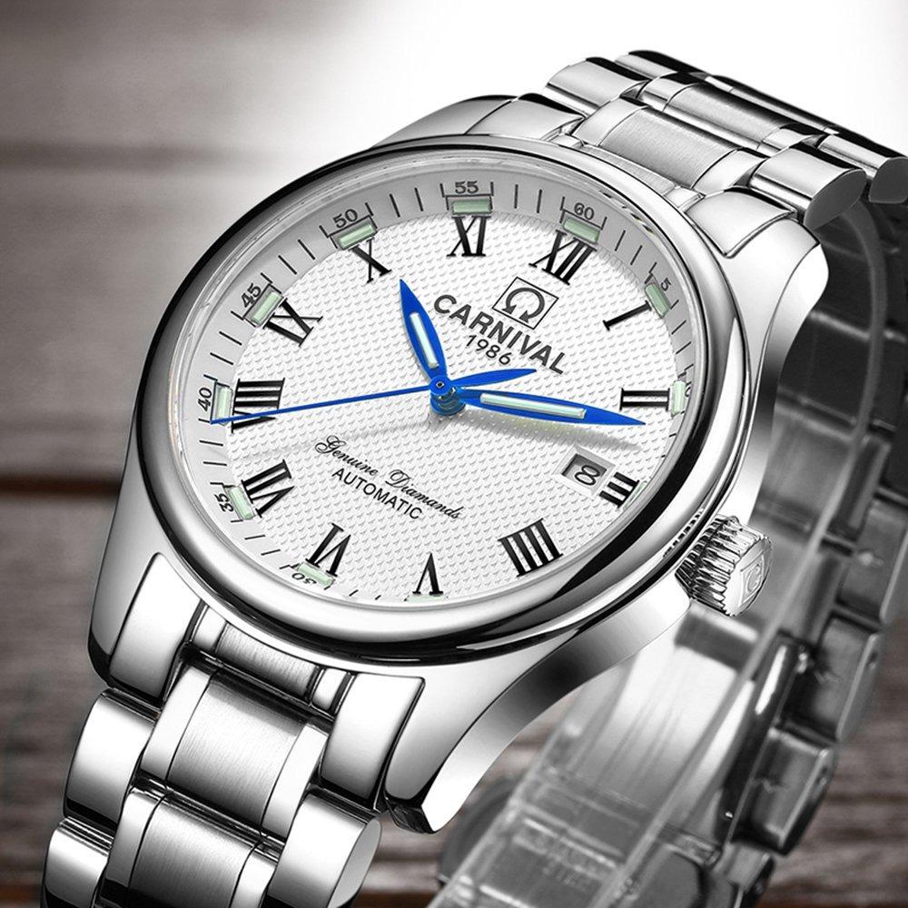 Cronometrador Calendario Mecánico Numér Automático Del Reloj wONmnv08