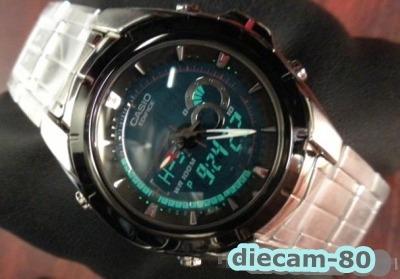 reloj cronometro 1/100 casio edifice efa 119bk 1a red bull