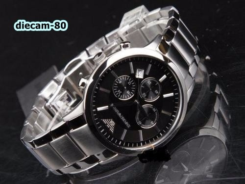 reloj cronometro armani ar2434 acero 100% original u.s.a