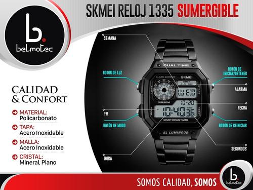 reloj cronometro calendario digital alarma skmei hombre