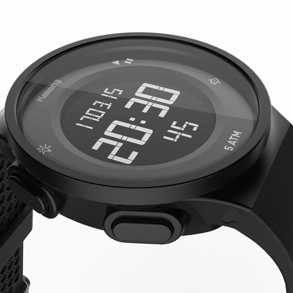 7e0f85d5fec8 reloj cronómetro de running w500 m negro con pantalla. Cargando zoom.