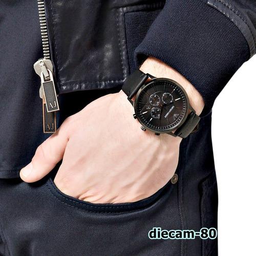 reloj cronometro emporio armani ar2461 original importado