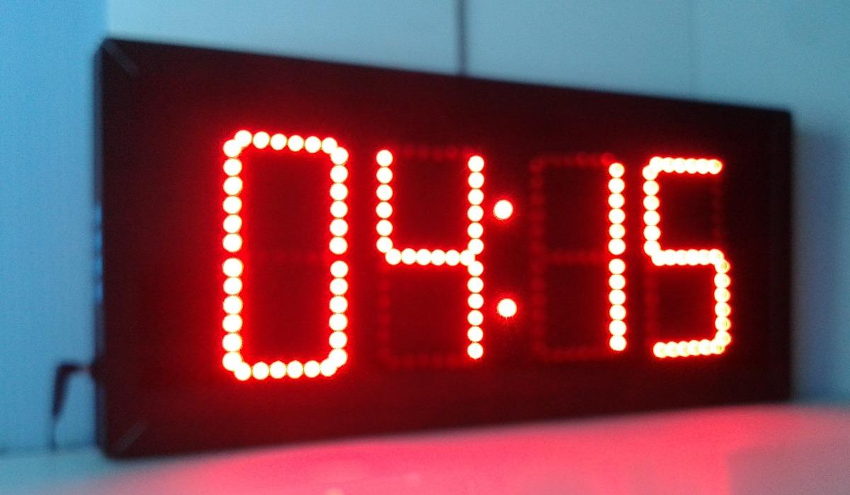 Reloj cron metro y turnador digital de pared de leds - Comprar mecanismo reloj pared ...
