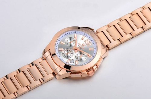 reloj cronos acero oro p/dama | promoción: $2,700 -30%dto.