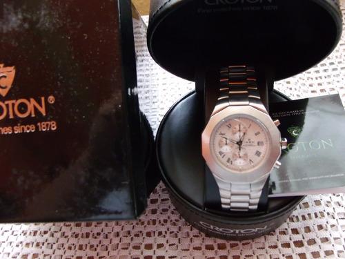 reloj croton / hombre / acero inoxidable / cronografo / sp0