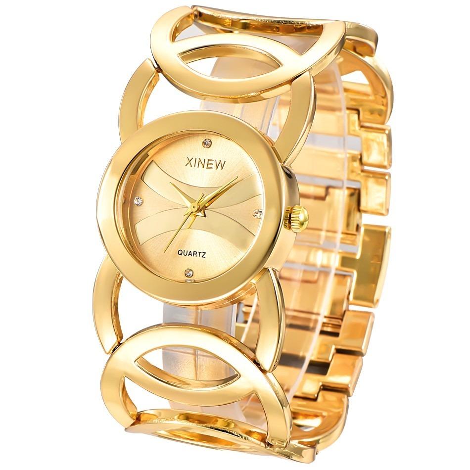 552c64426897 reloj cuarzo bañado oro mujer regalo joyas accesorios anillo. Cargando zoom.