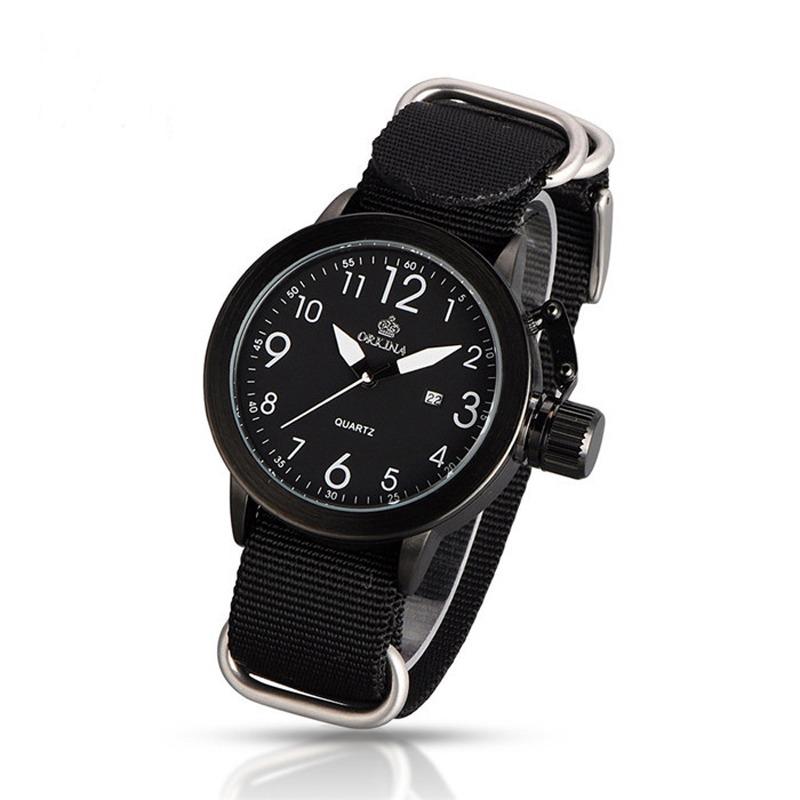 fc280a8034d1 Reloj Cuarzo Para Hombre Mg.orkina Dial Metal Banda De Tela -   20.815 en Mercado  Libre