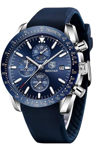 reloj cuarzo perfecto  resistente al agua benyar