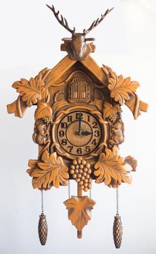 reloj cucu con pendulo y pajaro