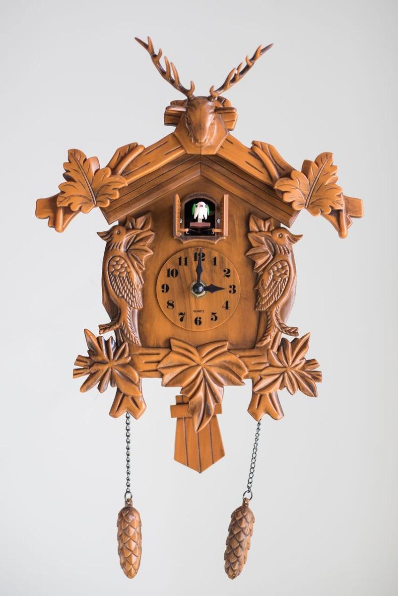 Y Pájaro Con Péndulo Símil Reloj Cucu Madera f6gY7yb