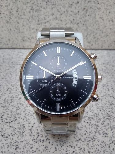 reloj cuena asiatico caballero pulsera acero casual elegante