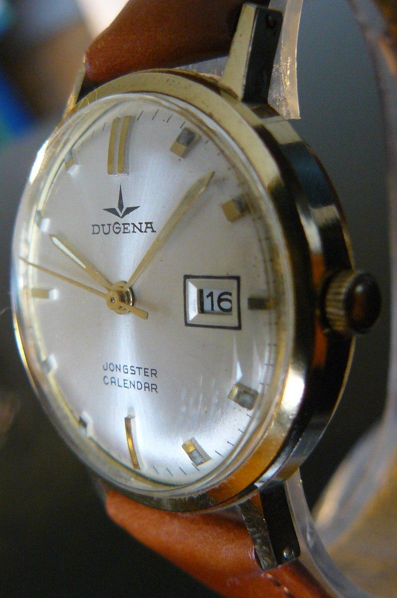 Dugena Cuerda Oro Reloj 000 En Aleman Rubi 15 Mecanico127 Año 50 SqzUMVp