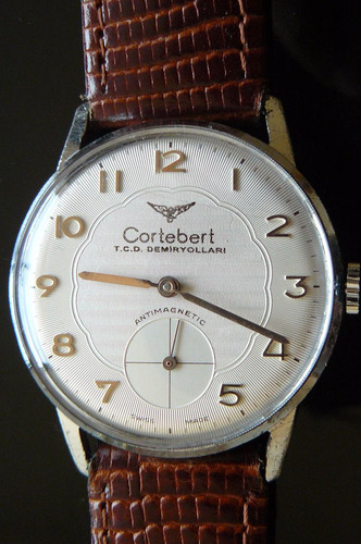 reloj cuerda suizo cortebert 17 rubis mecanico año 50