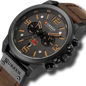 Reloj Curren 8314 Cuarzo Hombre Cronografo Analogico Cuero