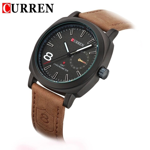 reloj curren cuarzo, análogo, anti agua elegante