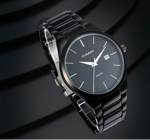 reloj curren de hombre modelo ejecutivo acero, calendario