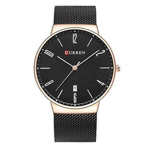d61030cf77e6 Reloj Curren Para Hombre 8257 Color Negro Pulsera De Acero ...