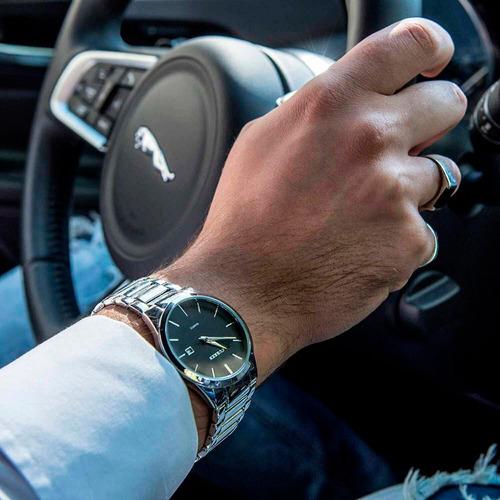 reloj curren hombre análogo fechador cuarzo acero ejecutivo
