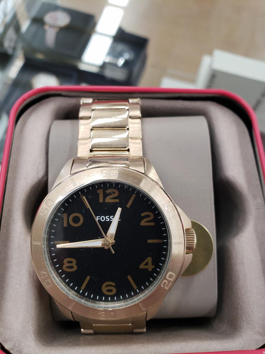 52feccde38af reloj dama caballero marca fossil dorado con negro original. Cargando zoom.